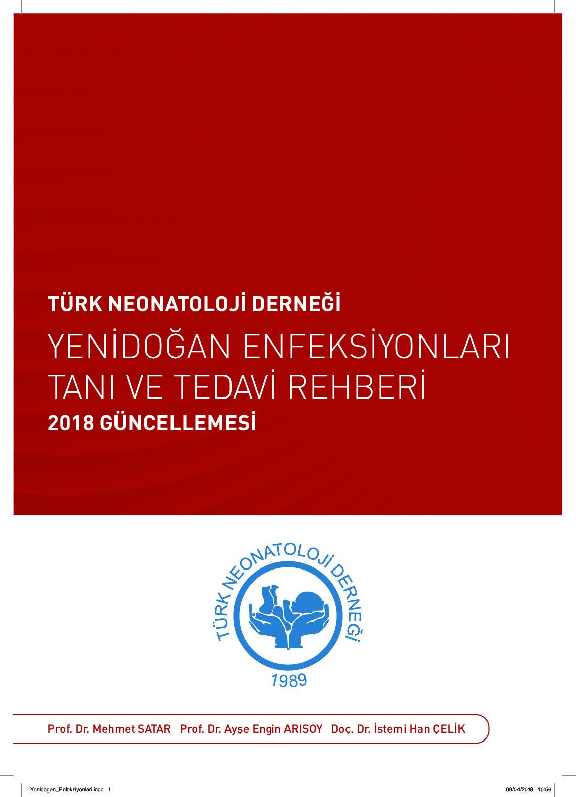thumbnail of Yenidoğan Enfeksiyonları Tanı ve Tedavi Rehberi - 2018